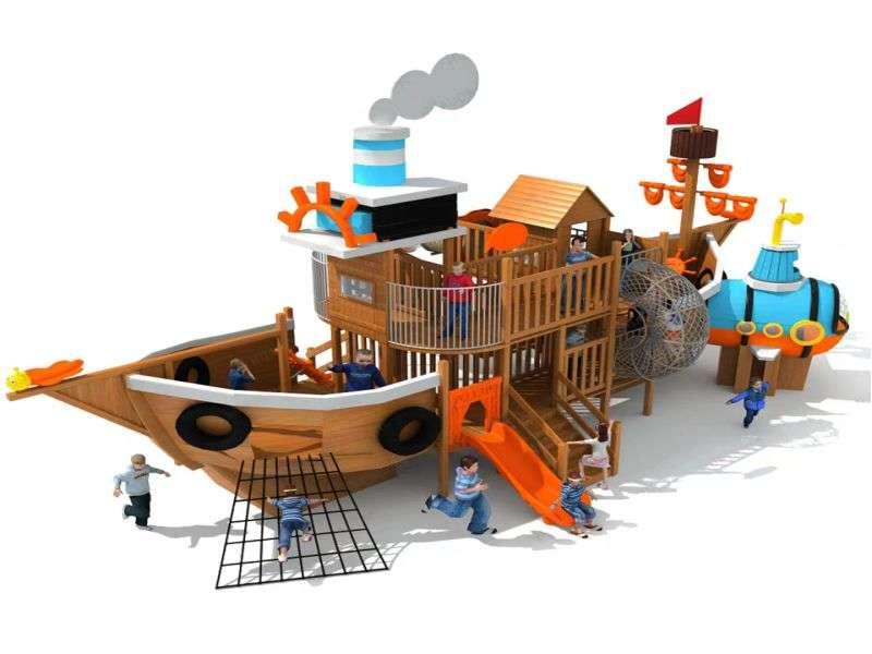 海盗船组合滑梯