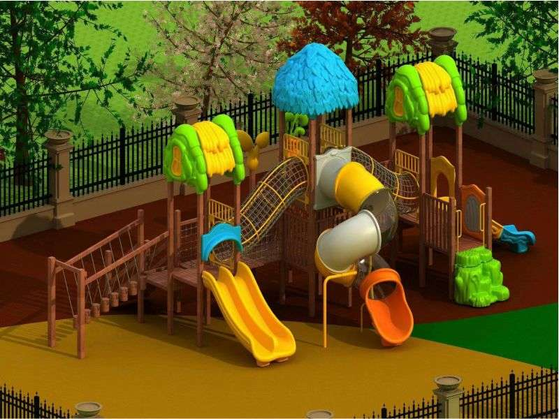 塑料组合滑梯